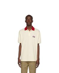 weißes Polohemd von Gucci