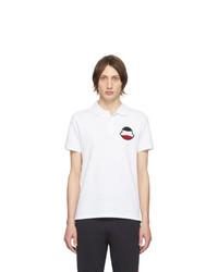 weißes Polohemd von Moncler