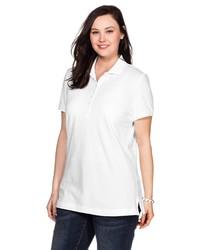 weißes Polohemd von SHEEGO BASIC