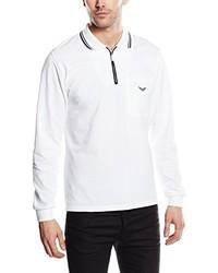 weißes Polohemd von Trigema