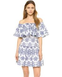 weißes schwingendes Kleid mit Blumenmuster von Nicholas