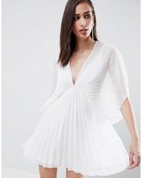 weißes schwingendes Kleid von ASOS DESIGN