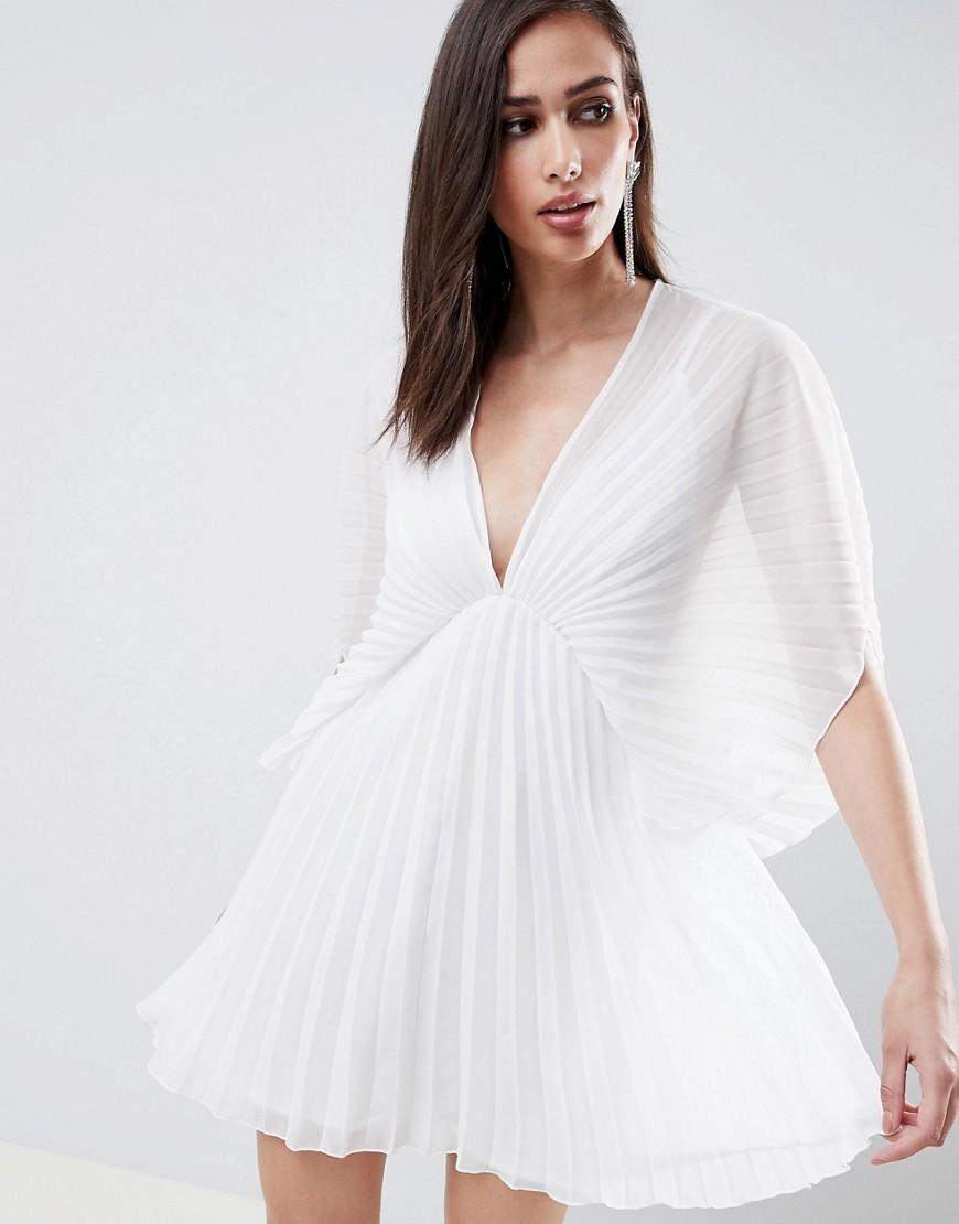 9efa82045c0adc ... weißes schwingendes Kleid von ASOS DESIGN