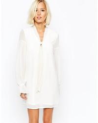 weißes schwingendes Kleid von Vero Moda