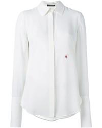 weißes Seide Businesshemd von Alexander McQueen