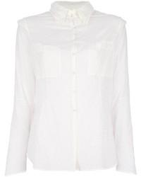 weißes Seide Businesshemd von And A