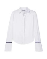 weißes Seide Businesshemd von Anna Quan