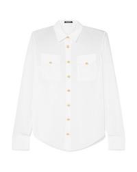 weißes Seide Businesshemd von Balmain