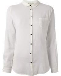 weißes Seide Businesshemd von Forte Forte