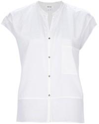 weißes Seide Businesshemd von Helmut Lang