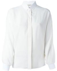 weißes Seide Businesshemd von Lanvin
