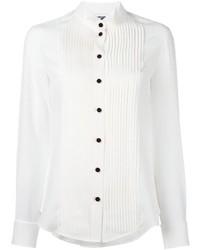 weißes Seide Businesshemd von Moschino