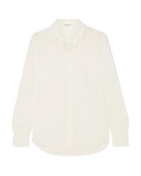 weißes Seide Businesshemd von Saint Laurent