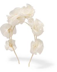 weißes Seide Haarband von Rosantica