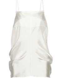 weißes Seide Trägershirt