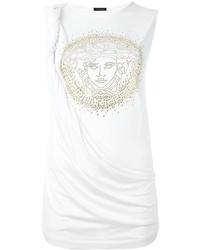 weißes Seide Trägershirt von Versace