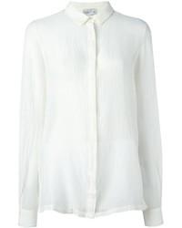 weißes Seidehemd von Forte Forte