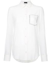 weißes Seidehemd von Joseph