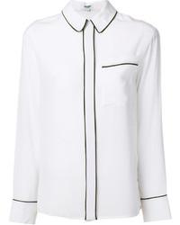 weißes Seidehemd von Kenzo