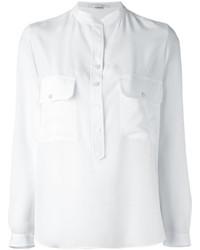 weißes Seidehemd von Stella McCartney