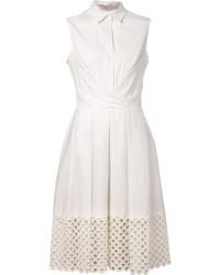 weißes Shirtkleid von Lela Rose