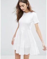 weißes Skaterkleid von Asos