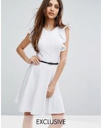 weißes Skaterkleid von Lipsy