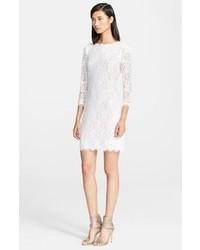 weißes Spitze figurbetontes Kleid
