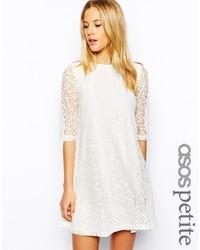 weißes Spitze schwingendes Kleid von Asos Petite