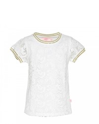 Weißes Spitze T-shirt