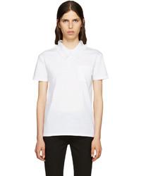 weißes Spitze T-shirt von Miu Miu