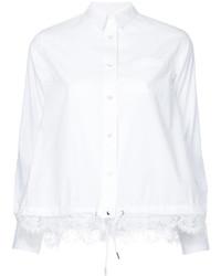 weißes Spitzehemd von Sacai