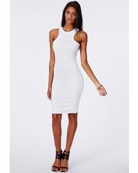 weißes Strick figurbetontes Kleid
