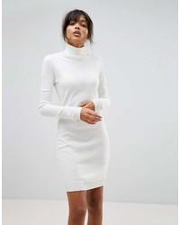 weißes Sweatkleid von Boohoo