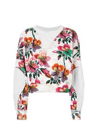 weißes Sweatshirt mit Blumenmuster von Isabel Marant
