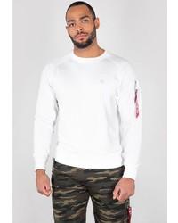 weißes Sweatshirt von Alpha Industries