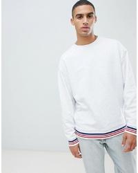 weißes Sweatshirt von ASOS DESIGN