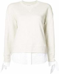weißes Sweatshirt von Derek Lam 10 Crosby