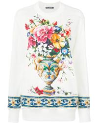 weißes Sweatshirt von Dolce & Gabbana