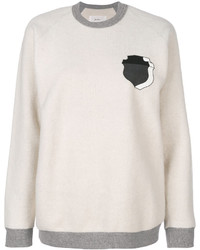 weißes Sweatshirt von JULIEN DAVID