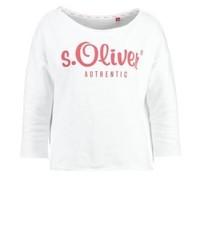 weißes Sweatshirt von s.Oliver
