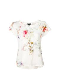 weißes Mit Batikmuster T-Shirt mit einem Rundhalsausschnitt von Avant Toi