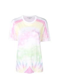 weißes Mit Batikmuster T-Shirt mit einem Rundhalsausschnitt von Stella McCartney