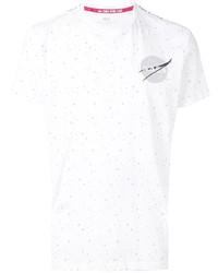 weißes T-Shirt mit einem Rundhalsausschnitt mit Sternenmuster von Alpha Industries