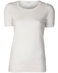 weißes T-Shirt mit einem Rundhalsausschnitt