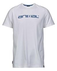 weißes T-Shirt mit einem Rundhalsausschnitt von Animal