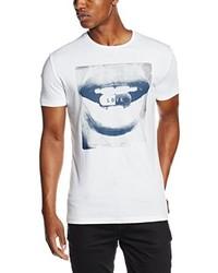 weißes T-Shirt mit einem Rundhalsausschnitt von Antony Morato