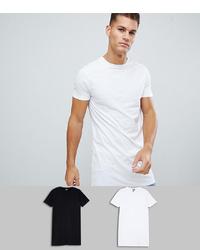weißes T-Shirt mit einem Rundhalsausschnitt von ASOS DESIGN