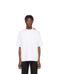 weißes T-Shirt mit einem Rundhalsausschnitt von Balenciaga
