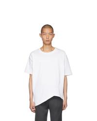 weißes T-Shirt mit einem Rundhalsausschnitt von Bottega Veneta